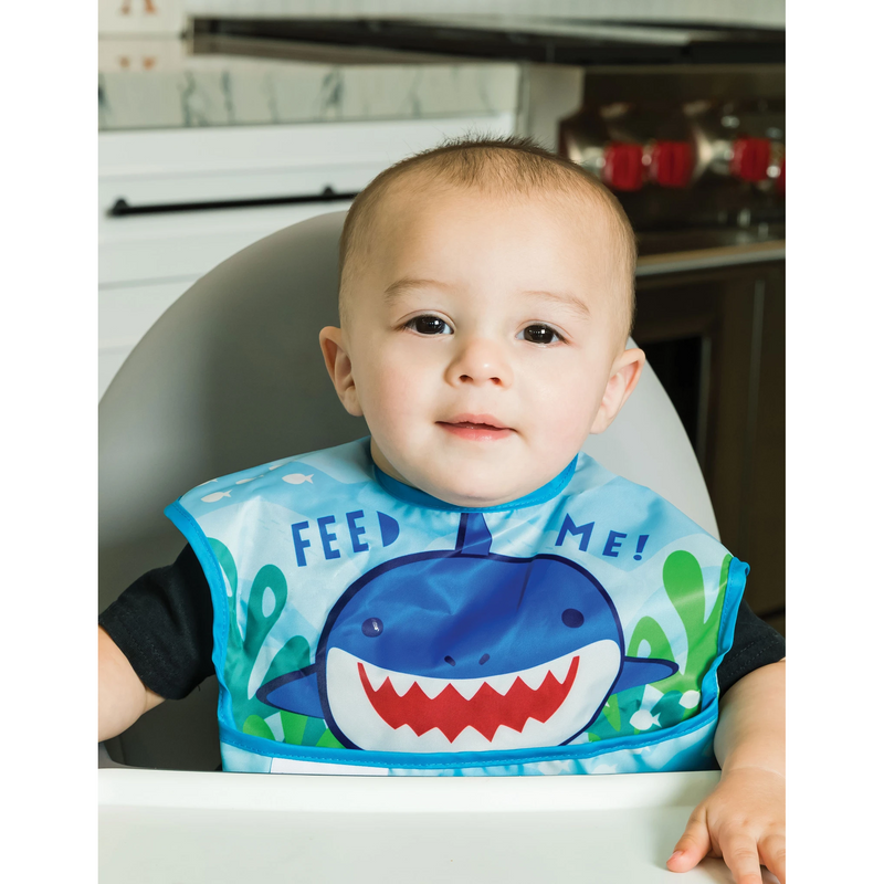 Tiny Twinkle Mess-Proof Easy Bib - Feed Me