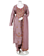 Load image into Gallery viewer, embroidery and sheesha work tussar suit