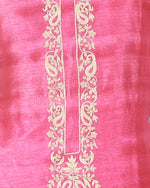 Load image into Gallery viewer, tussar suit with hand-done dori work and block print dupatta