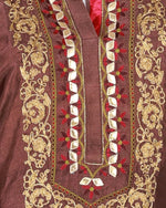 Load image into Gallery viewer, pure bamberg tussar embroided and kiran dori work suit set