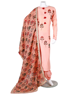 Load image into Gallery viewer, cotton silk shirt with digital patch work and digital dupatta