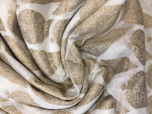 BANARSI JACQUARD ALLOVER PASLEYS CHANDERI