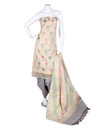 Load image into Gallery viewer, pure handloom chanderi suit with brush printing