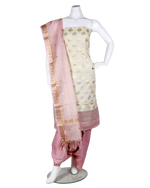 Load image into Gallery viewer, banarasi handloom suit with brush printing