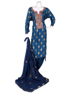 Load image into Gallery viewer, banarasi suit with embroided neck and dupatta