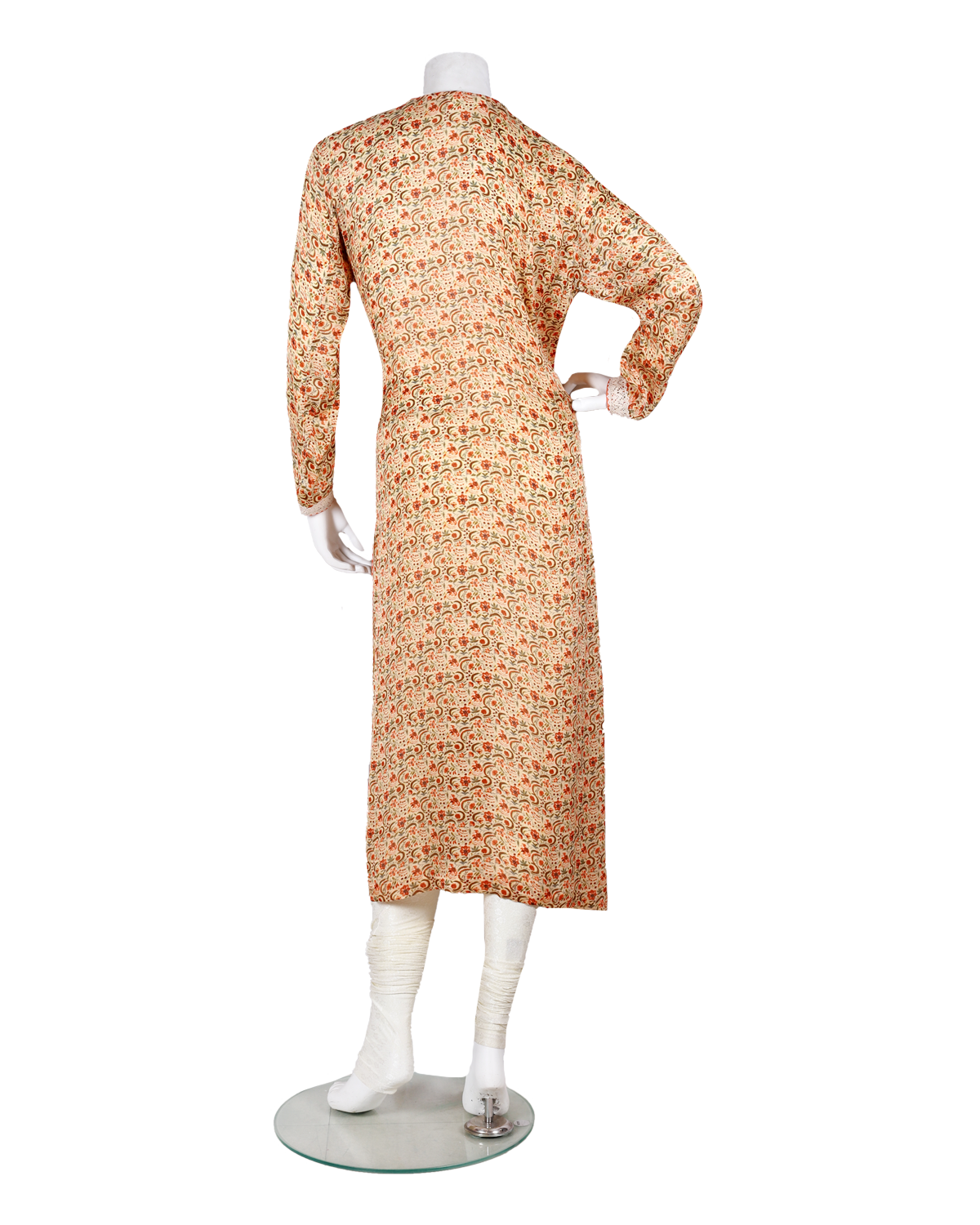 digital printed kurti/dress with lace work