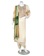 Load image into Gallery viewer, embroided suit with digital dupatta