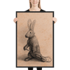 The Rabbit by Tony Becker Art - Framed matte poster - Red Label Sports