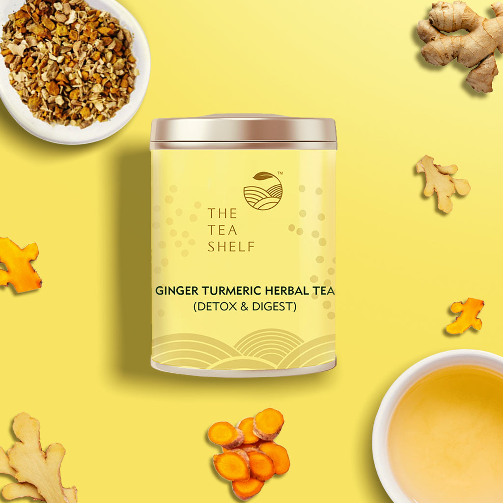 Ginger Turmeric Herbal Tea - The Tea Shelf