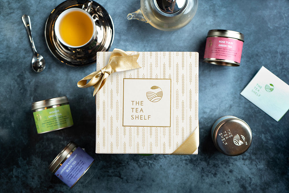 Ivory Tea Gift Box - Pack of 4 - The Tea Shelf