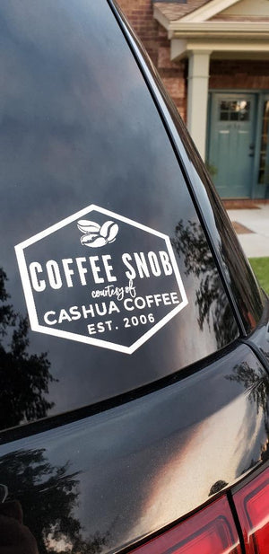 Coffee Snob Car Decal