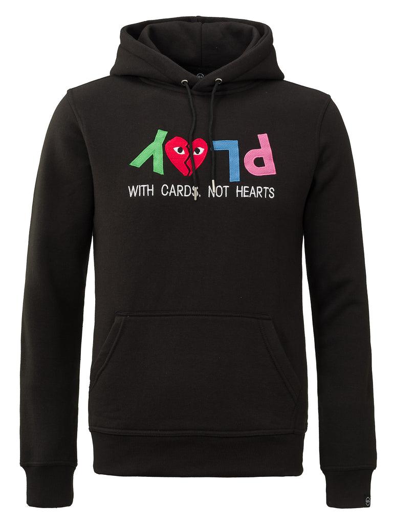 PLAY WITH CARDS HOODIE BLACK