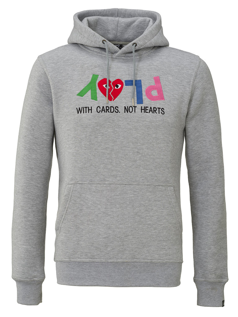 PLAY WITH CARDS HOODIE GREY