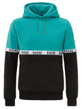 RIVERO TAPED HOODIE TEAL/BLACK