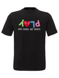 PLAY WITH CARDS T-SHIRT BLACK