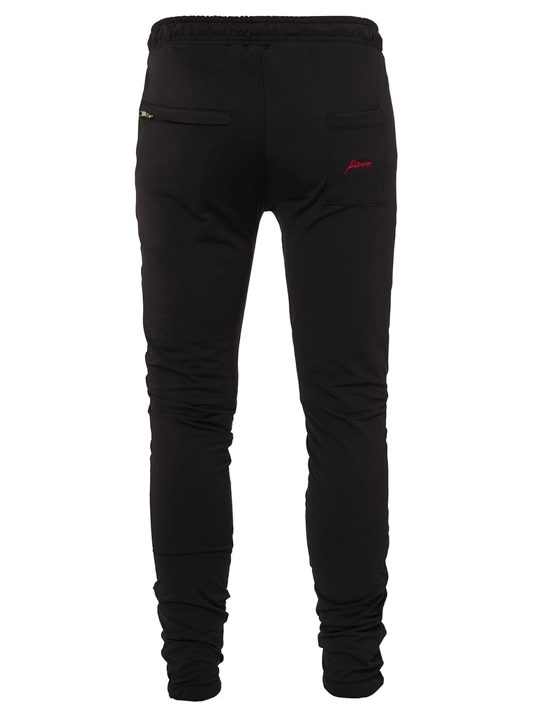 RIVERO TRACKPANTS BLACK/RED