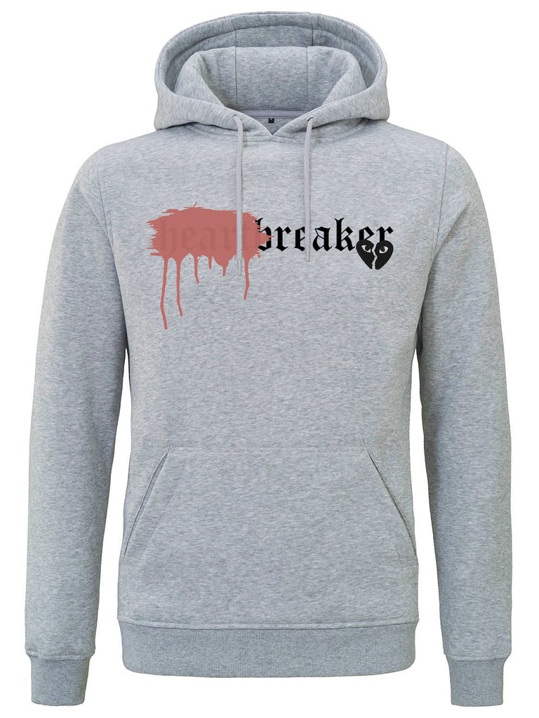 HEARTBREAKER HOODIE GREY SPRAYED RED SPECIAL