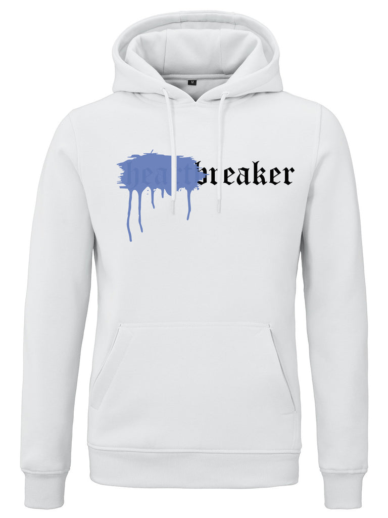HEARTBREAKER HOODIE WHITE SPRAYED BLUE