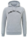 HEARTBREAKER HOODIE GREY BLACK HEART