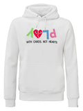 PLAY WITH CARDS HOODIE WHITE