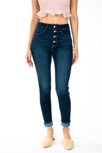 MADISON HIGH RISE ANKLE SKINNY-dark wash