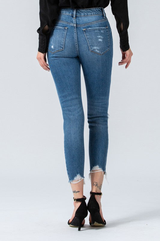 HAYLIE HIGHWAISTED CROP SKINNY DENIM