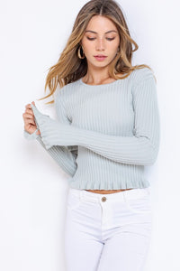 MORGAN KNIT SWEATER- SAGE