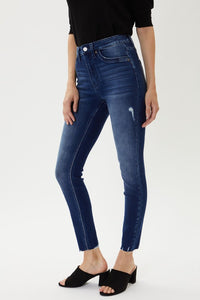 ERIN HIGH RISE ANKLE SKINNY- dark wash