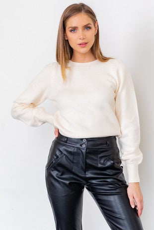 ALEXA BALLOON SLEEVE SWEATER