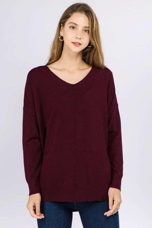 DREAMERS DOLMAN SWEATER- PLUM