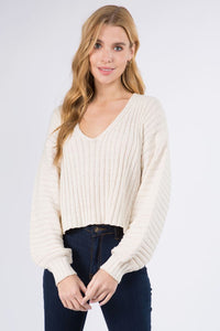 CAMILLE SWEATER- NATURAL
