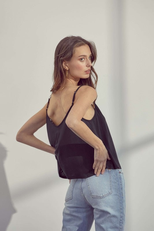 EVERYDAY V CAMI- BLACK