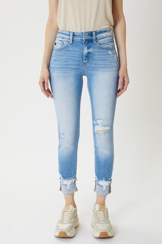 MALIBU HIGH RISE CUFFED SKINNY DENIM
