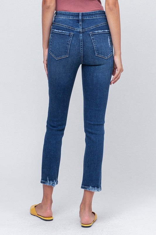 SLOW BOAT HIGH RISE CROP DENIM