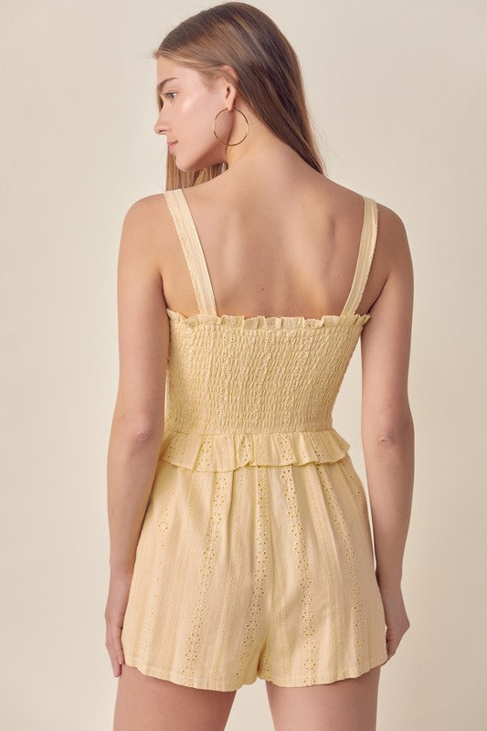 AFTERGLOW EYELET ROMPER