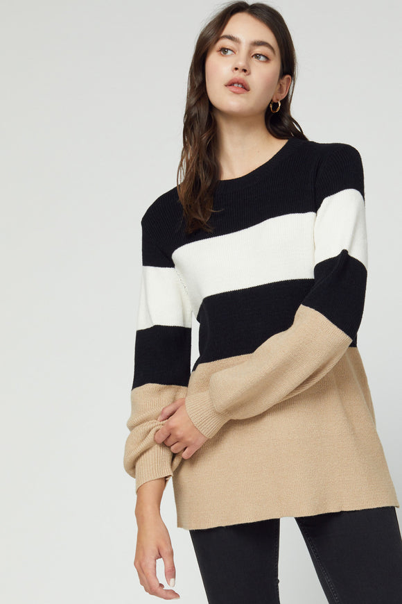 JONA STRIPED SWEATER