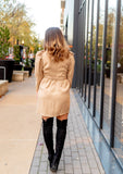 CHAMPAGNE SASH DRESS