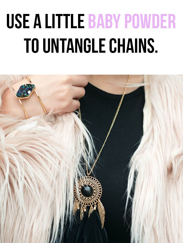 how to untangle necklace chains