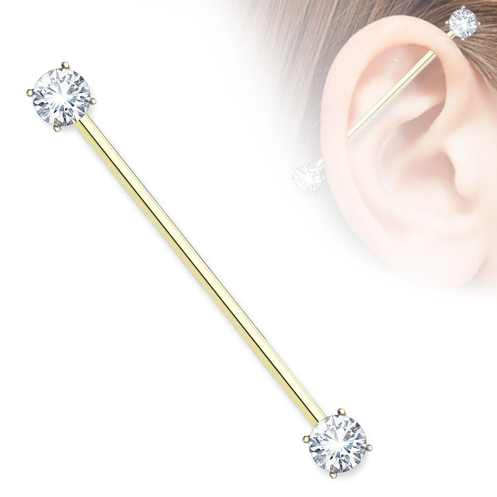 Gold Crystal Industrial Barbell