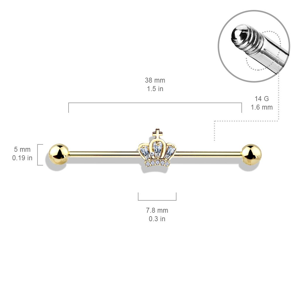 Princess Crown Industrial Barbell