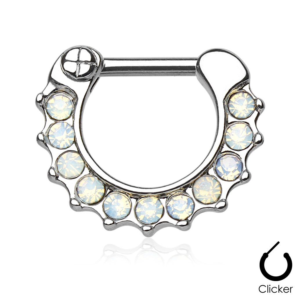 Dainty Opal Nose / Septum / Cartilage Clicker Ring