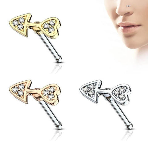Crystal Arrow Nose Stud