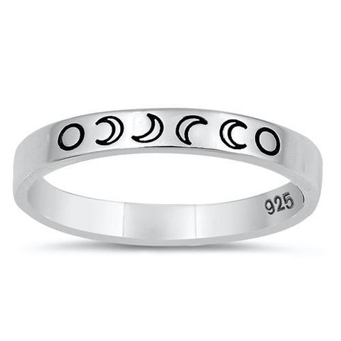 Sterling Silver Lunar Phase Ring