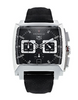 TAG Heuer Monaco Black Chronograph Leather Mens Watch