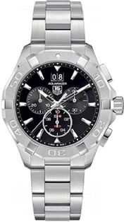 TAG Heuer Aquaracer Quartz Black Chronograph Stainless Steel  Mens Watch
