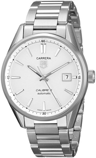 TAG Heuer Carerra Cal 5 White Dial Stainless Steel  Mens Watch