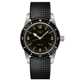 Longines Record Sunray Black Dial Automatic Mens Watch