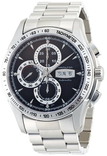 Hamilton Automatic Chronograph Black Dial Stainless Steel  Mens Watch