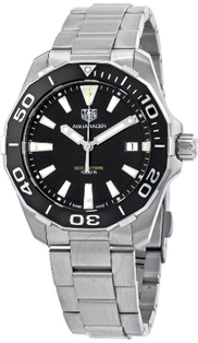 TAG Heuer Aquaracer Cal5 41mm Black Dial Stainless Steel  Mens Watch