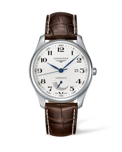 Longines Master Collection Automatic Silver Dial Mens Watch with Brown Strap
